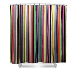 Striations Multi Shower Curtain by Margalit Romano