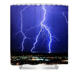 Shower Curtain featuring the photograph Strike Four by Bryan Carter