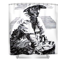 Striking It Rich Shower Curtain