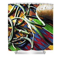 String Beans And Yam Shower Curtain by Sarah Loft
