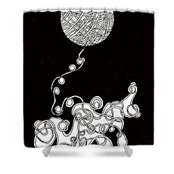 String Energy 1 Shower Curtain