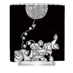 String Energy 1 Shower Curtain by Quwatha Valentine