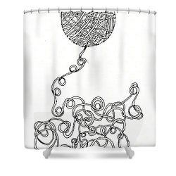 String Energy 2 Shower Curtain