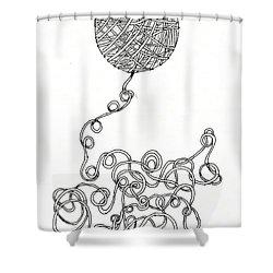String Energy 2 Shower Curtain by Quwatha Valentine