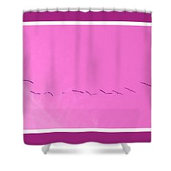 String Of Birds In Purple Shower Curtain