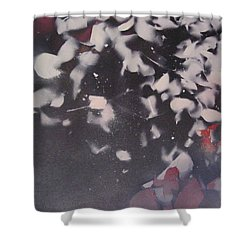 String Theory - Colored Leaves Shower Curtain by Carrie Maurer
