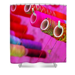 String Theory Shower Curtain by Skip Hunt