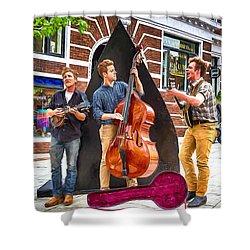 String Trio Shower Curtain