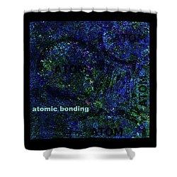 Shower Curtain featuring the digital art String Vibrations Calabi Yau Variety Atomic Bonding Detail by Digital Feng Shui