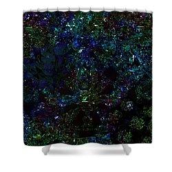 Shower Curtain featuring the digital art String Vibrations Calabi Yau Variety Detail 1 by Digital Feng Shui