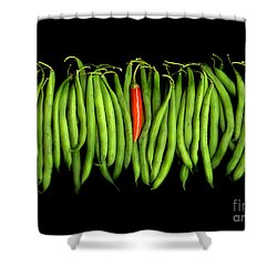Stringbeans And Chilli Shower Curtain