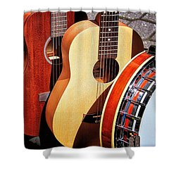 Strings Attached Shower Curtain by Wallaroo Images