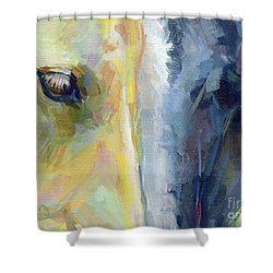 Stripes Shower Curtain by Kimberly Santini