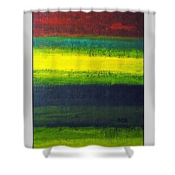 Stripes Number 3 Shower Curtain by Scott Haley