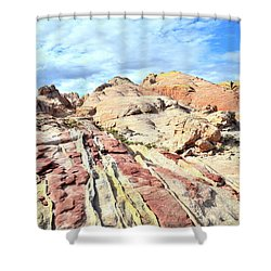 Stripes Of Valley Of Fire Shower Curtain