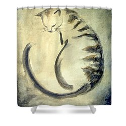 Stripey Cat 1  Shower Curtain