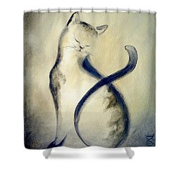 Stripey Cat 2 Shower Curtain