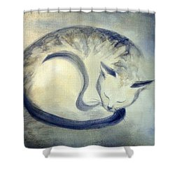 Stripey Cat 3 Shower Curtain