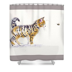 Stripey Creatures Shower Curtain