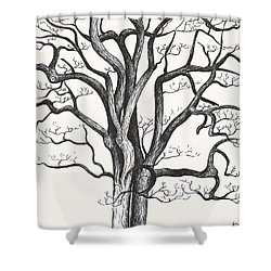 Stripped Bare Shower Curtain by Melinda Dare Benfield