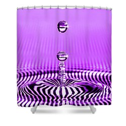 Stripped Droplet Shower Curtain
