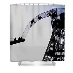 Shower Curtain featuring the photograph Striving by David Coblitz