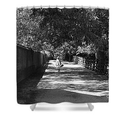Stroll To Store Shower Curtain by Eric Liller
