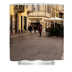 Strolling About Parma Shower Curtain by Rae Tucker