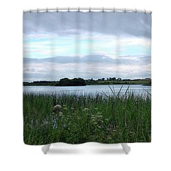 Shower Curtain featuring the photograph Strolling By The Lake by Terence Davis
