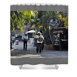 Strolling Musicians Shower Curtain by Jim Walls PhotoArtist
