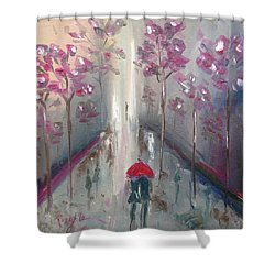 Strolling Shower Curtain by Roxy Rich