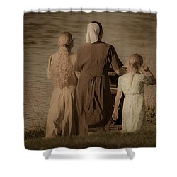 Strolling Seamstress Family Shower Curtain
