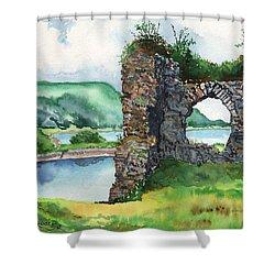 Strome Castle Scotland Shower Curtain