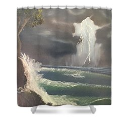 Strong Against The Storm Shower Curtain
