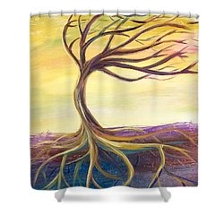 Shower Curtain featuring the painting Stronger by Lisa DuBois