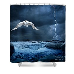 Stronger Than The Storm Shower Curtain by Heather King
