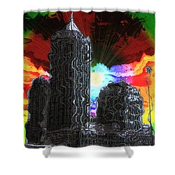 Structural Dissonance Shower Curtain by Iowan Stone-Flowers