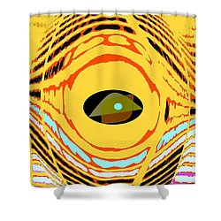 Structure In Perspective Shower Curtain by Ian  MacDonald