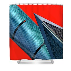 Structures Tilted 2 Shower Curtain by Bruce Iorio