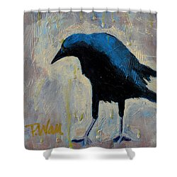 Shower Curtain featuring the painting Struttin' by Pattie Wall