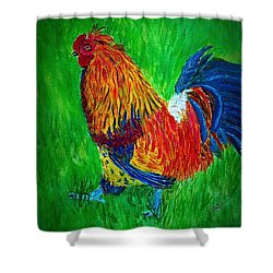 Strutting  Batam Rooster Shower Curtain