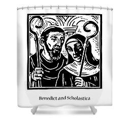 Sts. Benedict And Scholastica - Jlbas Shower Curtain