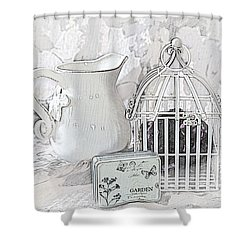 Stuck And All Alone Shower Curtain by Sherry Hallemeier