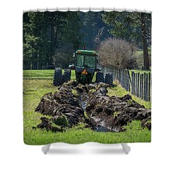 Stuck In The Muck Agriculture Art By Kaylyn Franks Shower Curtain