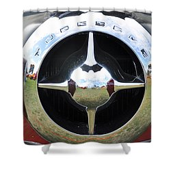 Shower Curtain featuring the photograph Studebaker Chrome by Glenn Gordon