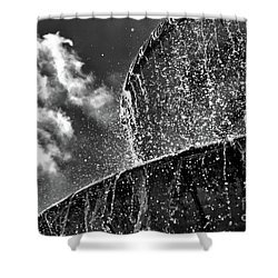 Students Fountain Shower Curtain
