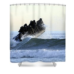 Students In Navy Seals Qualification Shower Curtain by Stocktrek Images
