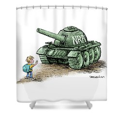 Students Vs The Nra Shower Curtain