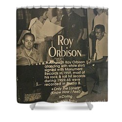 Studio B Roy Orbison  Shower Curtain
