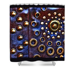 Shower Curtain featuring the photograph Studs On Leather by Chris Anderson